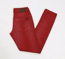 pull and bear jeans w30 tg 44 skinny stretch usato uomo rosso aderenti T2634