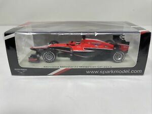 Spark 1:43 Marussia 2013 Jules Bianchi F1 Malaysia GP S3065 BRAND NEW & RARE!!