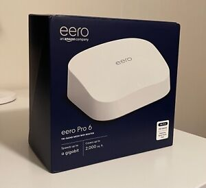 eero Pro 6 1Gbps Tri-Band Mesh Router - White