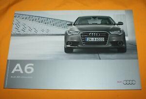 Audi A6 (C7) 2010 Prospekt Brochure Depliant Catalog Prospetto Folder