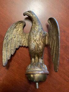Awsome Bronze Eagle Screw Into Flag Pole Finial