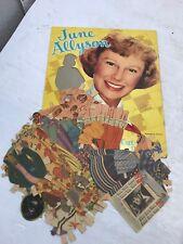 RARE VINTAGE JUNE ALLYSON PAPER DOLLS CUT BOOK