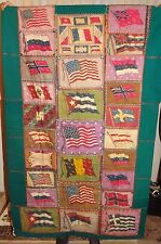 Rare vintage Flannel Flag Quilt Topper from Tobacco/Cigar Premiums