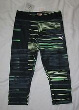 NWT Womens PUMA Cell Tight Fit Athletic Capri Pants - size S - Super Silky!