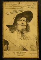 Charles Martinelli Schauspieler Autogramm der 3 Musketiere As Porthos 1923