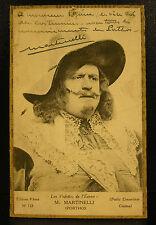 M Martinelli acteur autographe les 3 mousquetaires Athos Jean Siegfried Martinet