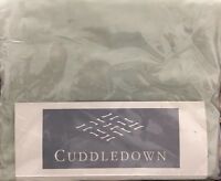 CUDDLEDOWN VOIL KING FITTED SHEET MADE IN ITALY 100% COTTON CELADON LIGHT GREEN