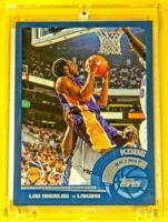 Topps Blue Border Kobe Bryant Lakers Legend Spectacular Skying Above Dunk Mamba