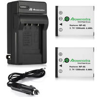 2x NP-45 NP-45A Battery+Charger For Fujifilm FinePix XP10 XP60 J10 J20 J100 T550
