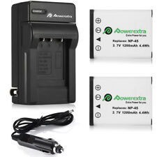 2 NP-45 NP-45A Battery+Charger For Fujifilm FinePix XP70 XP60 XP10 T550 T500 J40