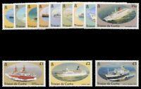 Tristan Da Cunha 1994 QEII Ships set complete superb MNH. SG 553-564. Sc 535-546