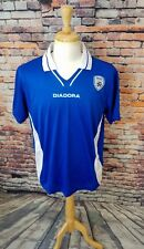 Diadora Men Short Sleeve Blue ISRAEL #7 National Team Soccer Futbol Jersey Sz XL