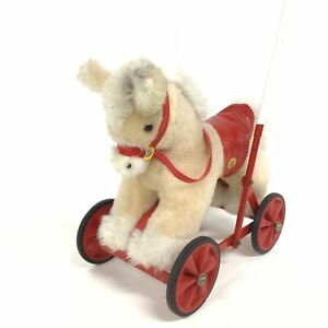Vintage Jakas Toys Push Along Horse Toy #323