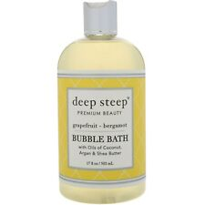 Deep Steep Bubble Bath Grapefruit - Bergamot 17 fl oz 503 ml Cruelty-Free, Vegan