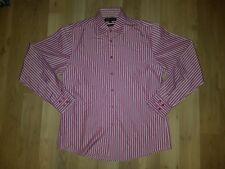Men's Ben Sherman Purple Pin Stripe Button Front Shirt SZ L      BIN B