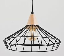 WART Modern metal wood pendant ceiling light in black Vintage Industrial