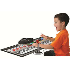 ZIPPY TOYS ELECTRONIC KEYBOARD PLAY MAT WITH MICROPHONE AND STAND 61 KEYS LEARN
