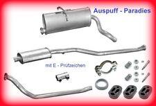 Abgasanlage Auspuff Peugeot Partner 1.8D & 1.9D ohne Katalysator inkl. Anbausatz