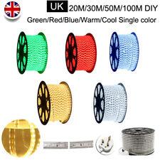 20-100M Led Strip Light 5050 Waterproof Flexible Tape Rope Lamp UK Single Color