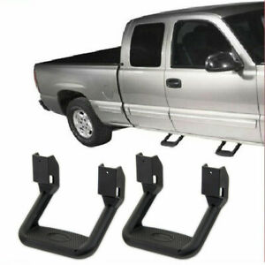 2PCS Universal Fit For Truck/SUV/Pickup Black Aluminum Side Step Nerf Bars Pair