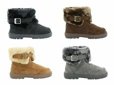 Women's Ella Santa Fe Faux Sheepskin Look Fur Lined Warm Ankle Boots