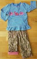 JoJo Maman Bebe M&S Summer Tunic Top 18-24 month blue outfit pink Girls elephant