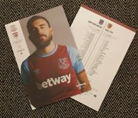 West Ham v Hull City CARABAO CUP 3RD ROUND Programme 22/9/2020 READY TO POST!!!
