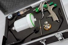 LVLP SPRAY GUN KIT 1.3 1.8 mm GRAVITY 600ML REGULATOR FILTER LOW VOLUME PRESSURE