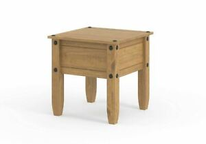 Lamp Table Pine 1 Drawer Corona Mexican Pine Coffee Side End Table Seconds