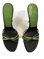 Womens Casadei Sandals Size 8 Green/black