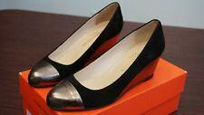 Claudia Ciuti Women's Roxanne Black/Pewter Wedge Heel Shoes Size 8M, Italian