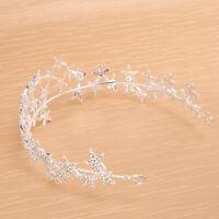 Mädchen Hochzeit Haarschmuck Haarkrone Stirnband Sterne Strass Kopfschmuck