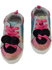 Disney Toddler Girls Minnie Mouse Rainbow Glitter Sneakers Tennis Shoes