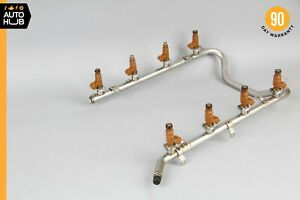 00-06 Mercedes W219 CLS500 ML500 E500 Fuel Injection Rail Line w/ Injectors OEM