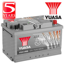 Yuasa YBX5100 Car Battery Calcium Silver Case SMF SOCI 12V 680CCA 75Ah T1