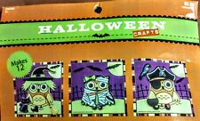 New Package of 12 Foam Owls - Halloween Arts & Crafts - Three Patterns