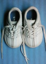 Baby K Swiss shoes infant size 4 classic white leather very good
