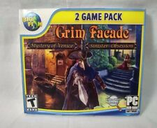 Grim Facade Mystery of Venice & Sinister Obsession PC CD ROM Big Fish Game