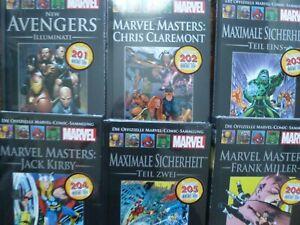 6 x Die Offizielle Marvel Comic Sammlung 201-206/ Hardcover - Nagelneu