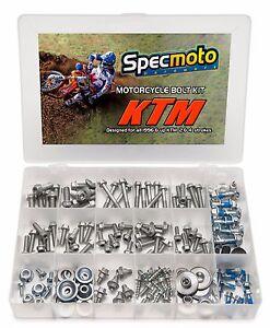 KTM Factory Match Bolt Kit with OEM Torx Flange bolts. Sprocket Rotors Plastics
