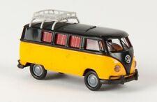 1/87 Brekina # 1745 VW T1 b Camper schwarz/gelborange mit Dachklappe 31564
