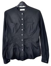 ACNE JEANS Womens M Size 38 Cotton Blouse Casual Button Up Black Top Long Sleeve