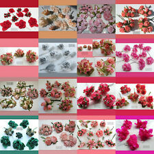 Artificial 🌺 Flowers LOT Floral Decor Wedding Crafts Pink Red Gold Silver Peach