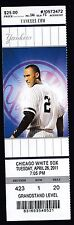 Chicago White Sox at NY Yankees April 25 2011 Unused Ticket Stub D Jeter Image