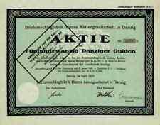 Briefumschlagfabrik Hansa AG 1925 Danzig Gdansk Westpreussen Polen 25 Gulden TOP