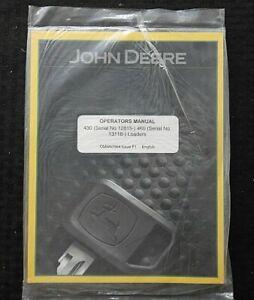 JOHN DEERE 970 1070 4300 4400 4500 4600 TRACTOR 430 & 460 LOADER OPERATOR MANUAL