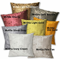Mv Cream Tan Ivory Grey Silver Gold Sherry Diamond Crushed Velvet Cushion Cover