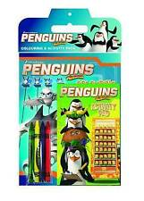 COLOURING & ACTIVITY PACK/SET..DREAMWORKS PENGUINS...2 BOOKS & CRAYONS  new
