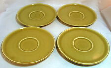 RUSSEL WRIGHT American Modern Steubenville Set of Four 4 Chartreuse Saucers 5.75
