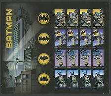 "#4935a ""BATMAN"" IMPERF PANE OF 20 BS5582"